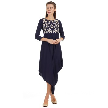 Ethnicity Casual Wear Embroidered Women Dress