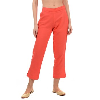 Ethnicity Women Peach Straight Pant