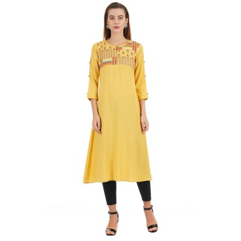 Ethnicity Casual Wear Embroidered Women Kurta