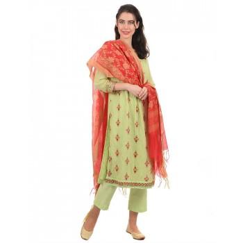 Ethnicity Women Red Dupatta