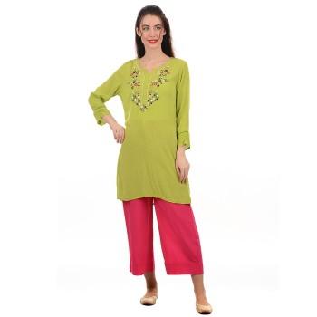 Ethnicity Women Green Kurti