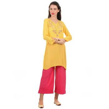 Ethnicity Women Yellow Kurti