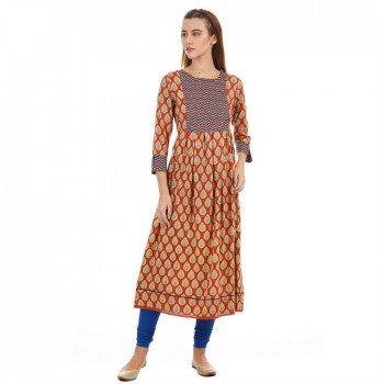Ethnicity Casual Wear Printed Women Kurta