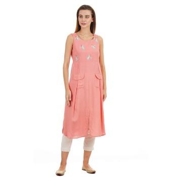 Ethnicity Casual Wear Printed Women Kurta