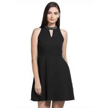 Faballey Women Casual Wear Black Dress