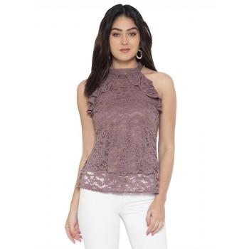 Faballey Women Casual Wear Purple Top