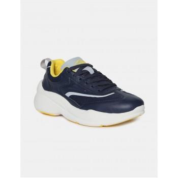 Flying Machine Footwear Men Blue Lace Up Sneakers