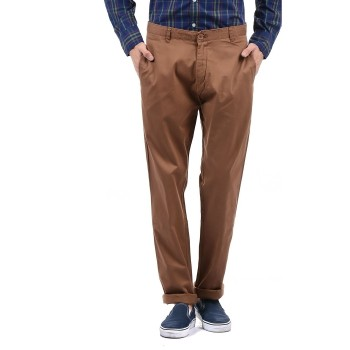 Flying Machine Men Casual Wear Solid Trousers