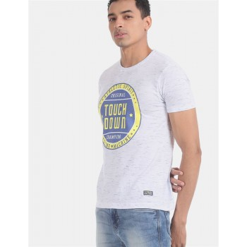 Flying Machine Men Printed Casual Wear T-Shirt