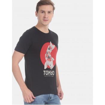 Flying Machine Men Printed Casual Wear T-Shirt