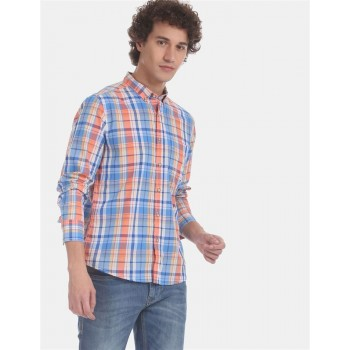 Flying Machine Men Checkered Casual Wear Shirt