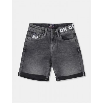 Flying Machine Boys Black Solid Shorts
