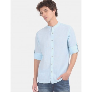 Flying Machine Men Solid Casual Wear Shirt
