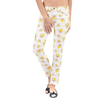 Flying Machine Women Casual Wear Floral Print Jeans