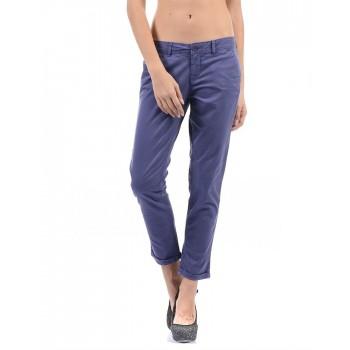 Flying Machine Women Casual Wear Solid Trousers