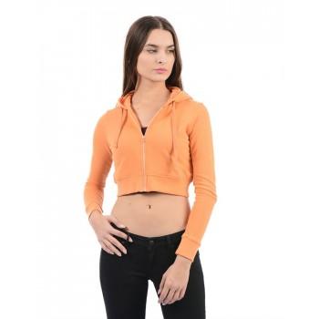 Flying Machine Women Casual Wear Solid Sweat Shirt