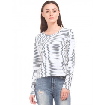 Flying Machine Women Casual Wear Striped Top