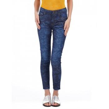 Flying Machine Women Casual Wear Printed Jeans