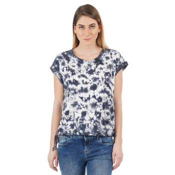 Flying Machine Women Casual Wear Tie & Dye T-shirt