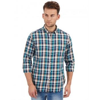 Flying Machine Men Casual Wear Checkered Shirt