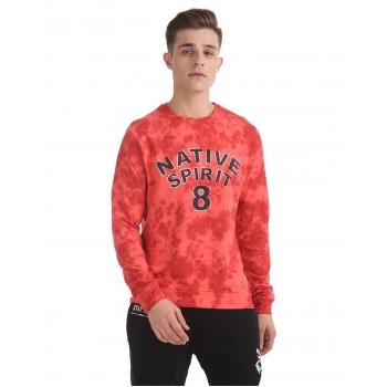 Flying Machine Men Casual Wear Graphic Print Sweatshirt