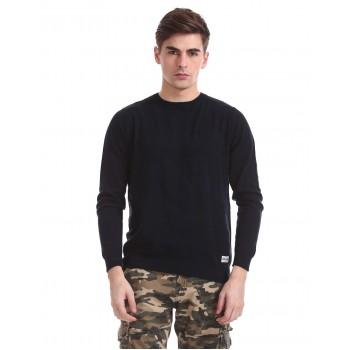 Flying Machine Men Casual Wear Self Design Sweater
