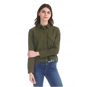 Flying Machine Women Casual Wear Solid Jacket