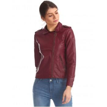 Flying Machine Women Casual Wear Solid Jacket