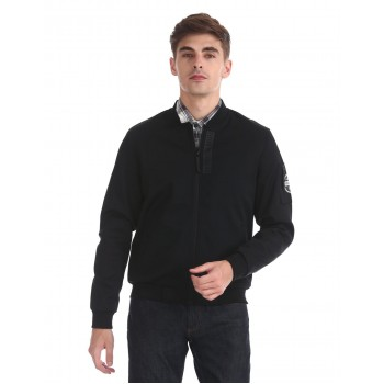Flying Machine Men Casual Wear Solid  Jacket