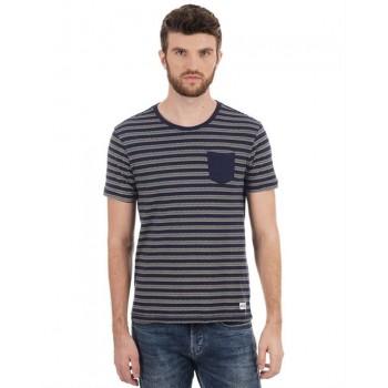 Flying Machine Men Casual Wear Striped T-Shirt