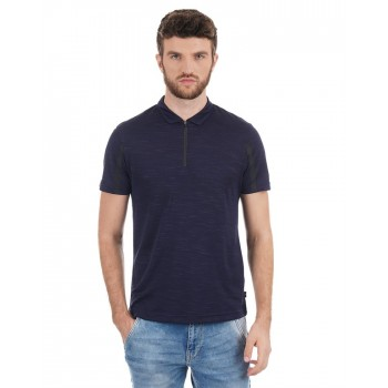 Flying Machine Men Casual Wear Textured T-Shirt