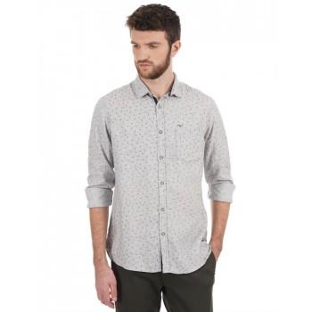 Flying Machine Men Casual Wear Printed Shirt