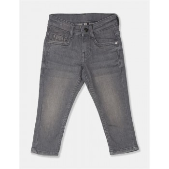 Flying Machine Boys Grey Solid Jeans