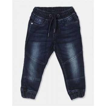 Flying Machine Boys Blue Solid Jeans