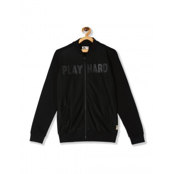 Flying Machine Boys Black Printed Sweatshirt