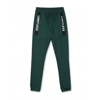 Flying Machine Boys Green Solid Jogger