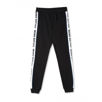 Flying Machine Boys Black Solid Jogger