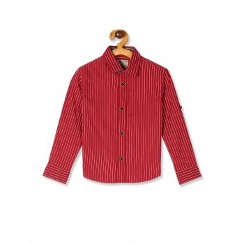 Flying Machine Boys Red Striped Shirt