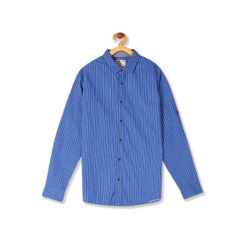 Flying Machine Boys Blue Striped Shirt