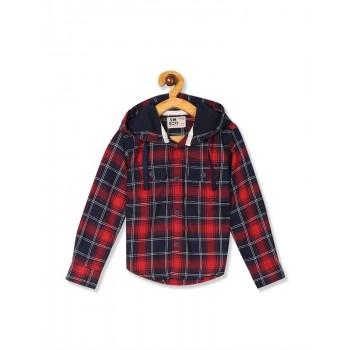 Flying Machine Boys Red Checkered Shirt