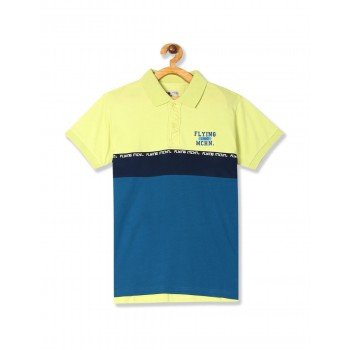 Flying Machine Boys Green Solid T-Shirt