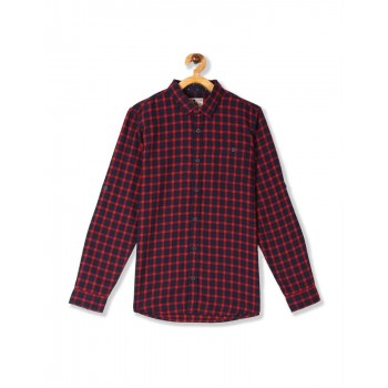 Flying Machine Boys Blue Checkered Shirt