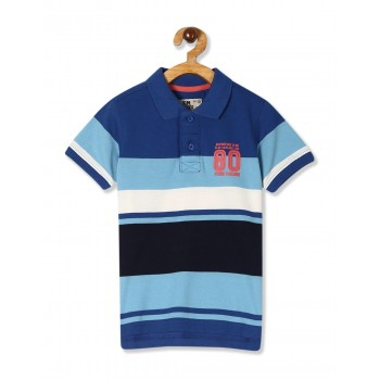 Flying Machine Boys Blue Striped T-Shirt