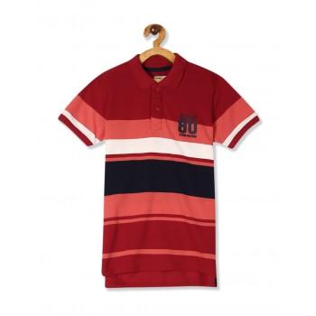 Flying Machine Boys Red Striped T-Shirt