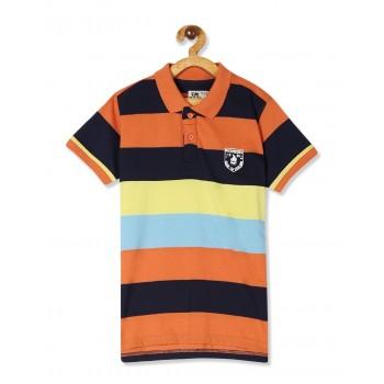 Flying Machine Boys Multicolor Striped T-Shirt