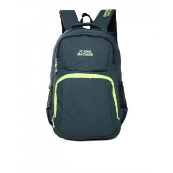 Flying Machine UniSex Blue Casual Wear Backpack