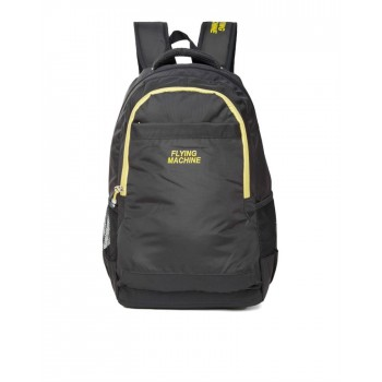Flying Machine UniSex Black Casual Wear Backpack