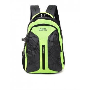 Flying Machine UniSex Green Casual Wear Backpack