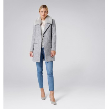 Forever New Women Casual Wear Grey Coat