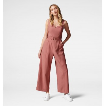 Forever New Women Casual Wear Pink Jump Suit